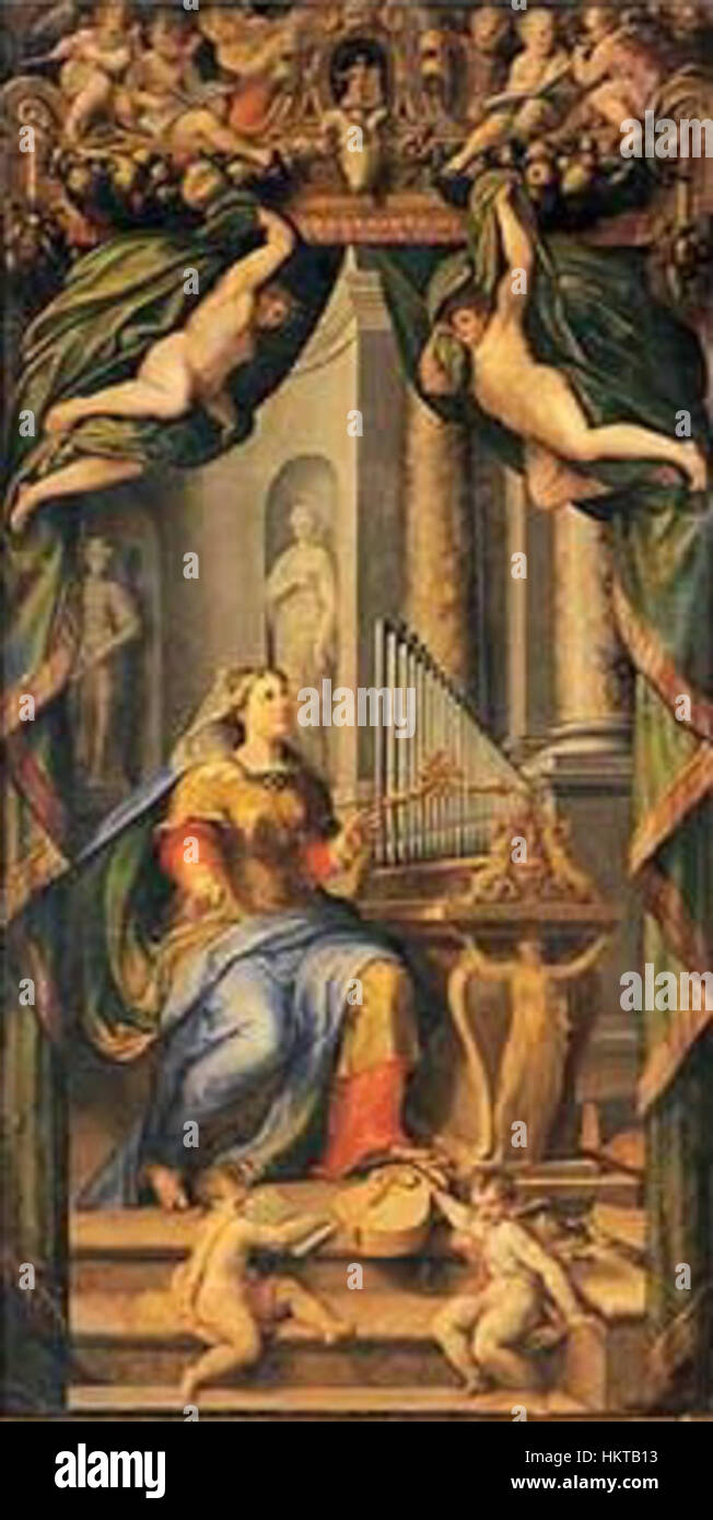 Ercole Procaccini Puertas organo Santa Cecilia 1560 Catedral de Parma Imagen De Stock