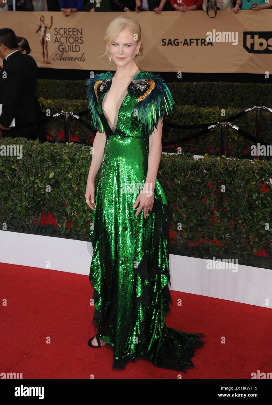 Los Angeles, CA, EE.UU. 29 ene, 2017. Nicole Kidman en la terminal de llegadas para 23ª Screen Actors Guild Imagen De Stock