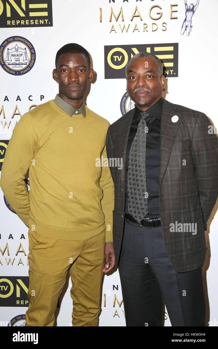 Malaquías Kirby, LaVar Burton en la terminal de llegadas para 48th NAACP Image Awards' almuerzo, Loews Imagen De Stock