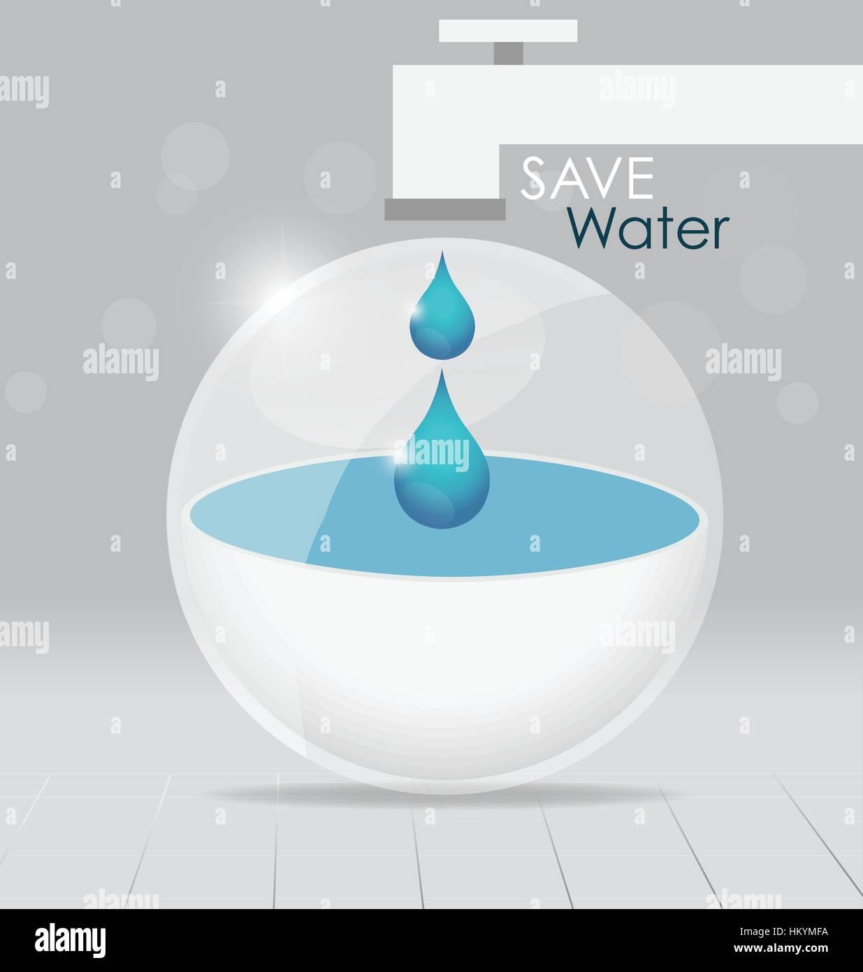 Concepto del día mundial del agua con la gota de agua. Ilustración vectorial. Ilustración del Vector