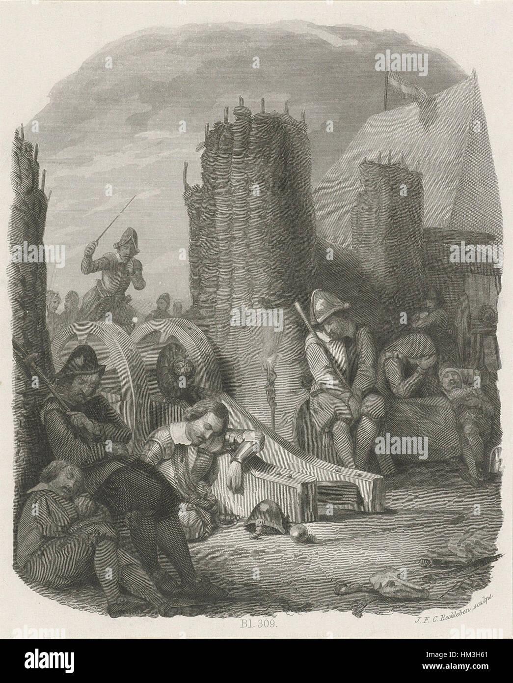 Por name van de puerta de Maastricht Spanjaarden, 1579, Jan Frederik Christiaan Reckleben Foto de stock