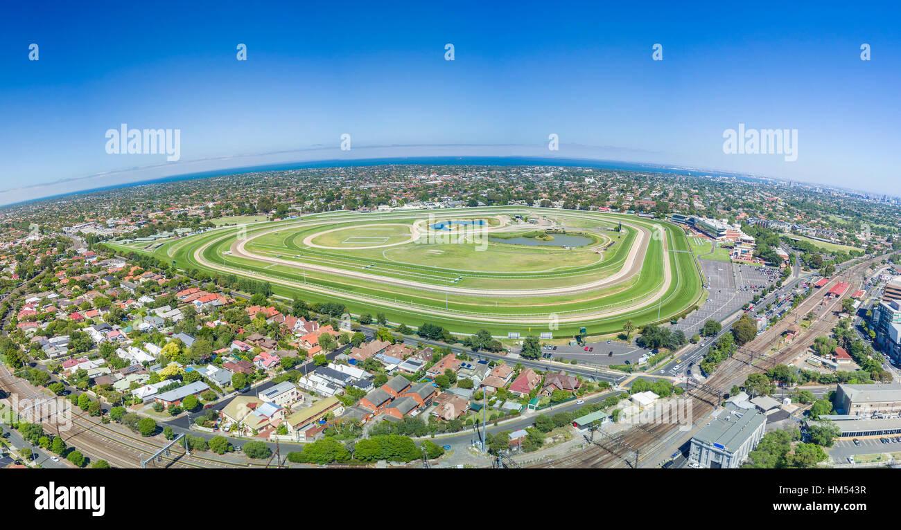 Vista aérea del hipódromo Imagen De Stock