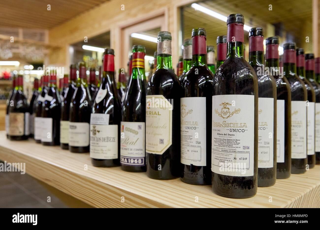 Selección de vinos, Bodega Imagen De Stock
