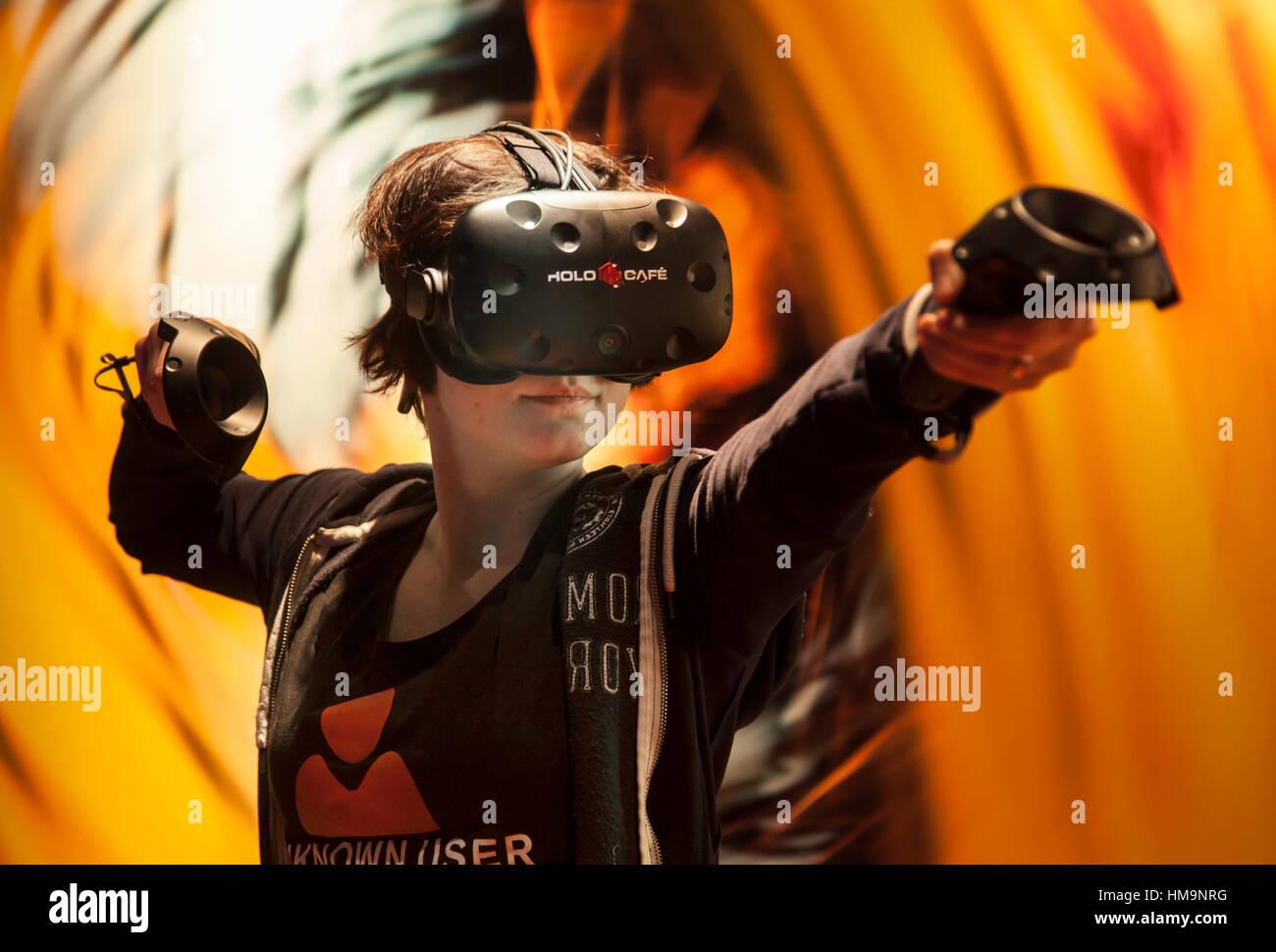 El Mundo De La Realidad Virtual Juegos En 3d Con Un Gaming