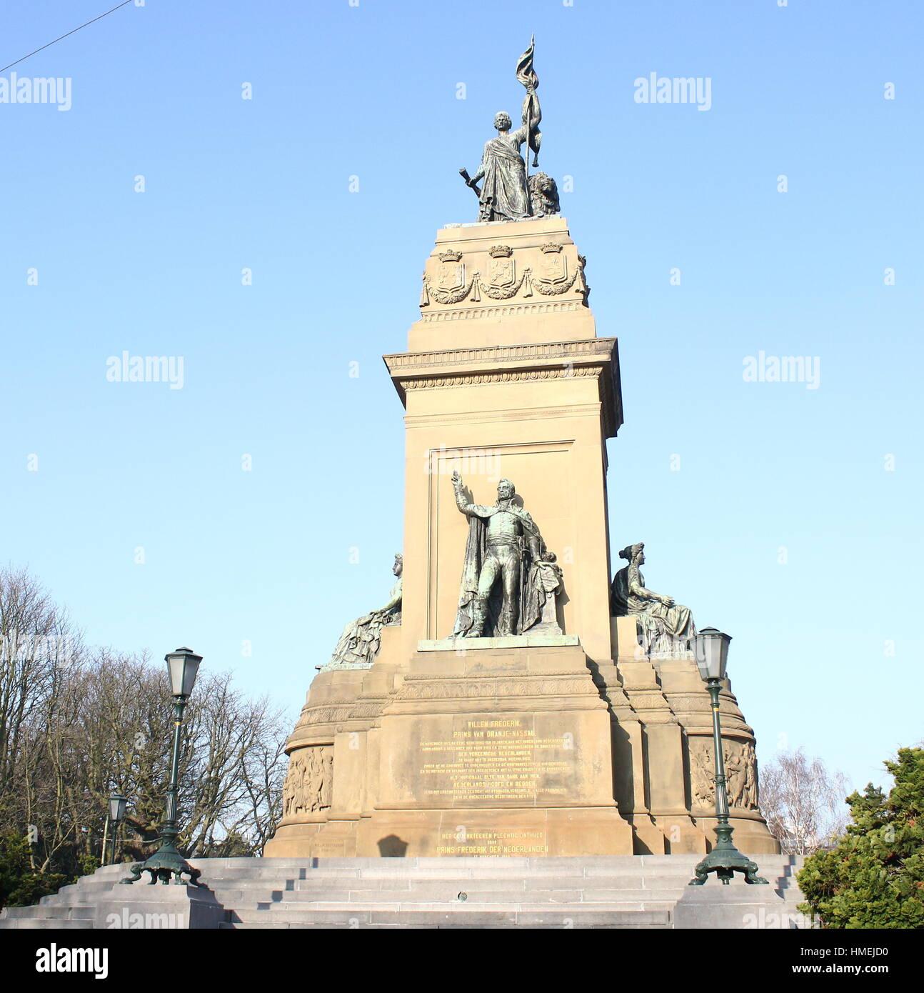 Siglo xix independencia monumento (Onafhankelijkheidsmonument) en plein 1813, Den Haag, Países Bajos. Imagen De Stock