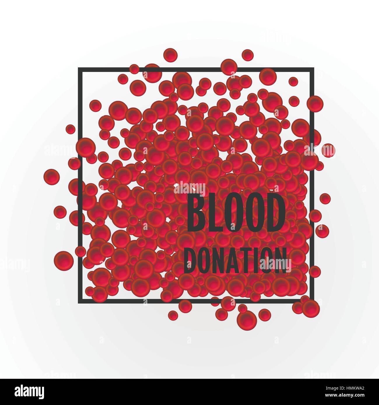 Ilustración vectorial de donación de sangre una gran cantidad de ...