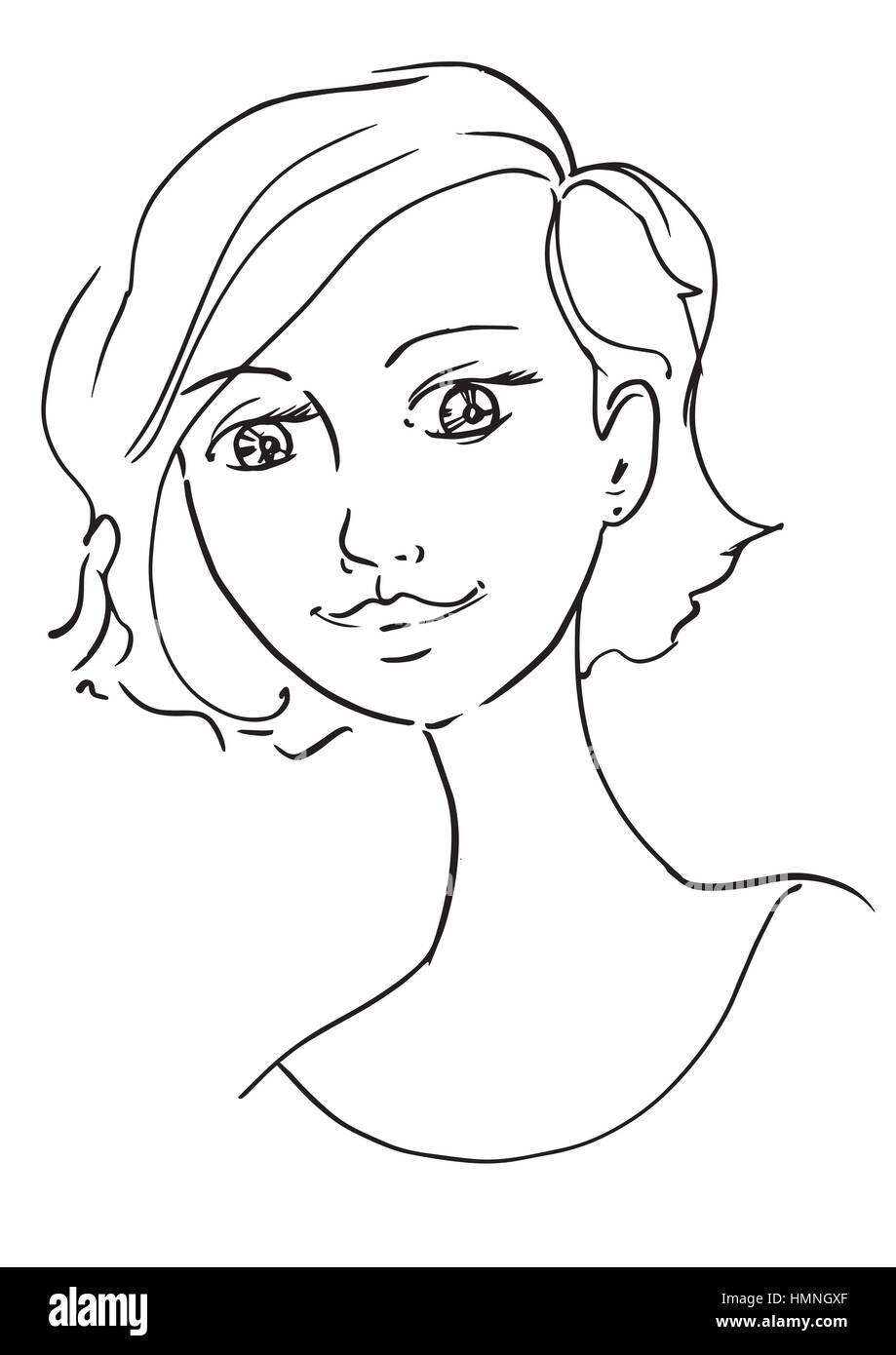 Hermosa Mano JovenCroquis Dibujo Gráficos De A Contorno erdBWxoC