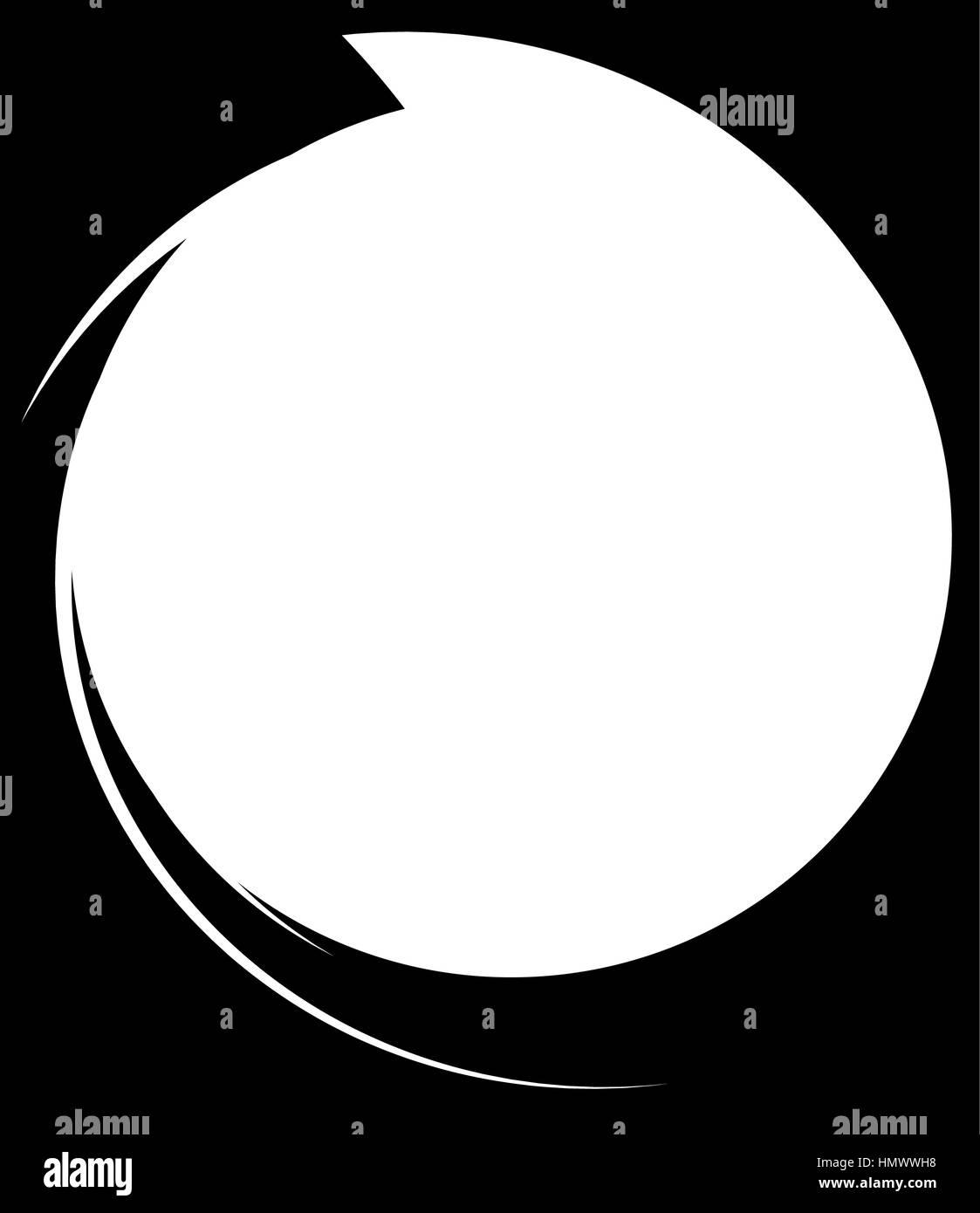 Círculo con dinámico marco línea de Nike. Elemento circular ...