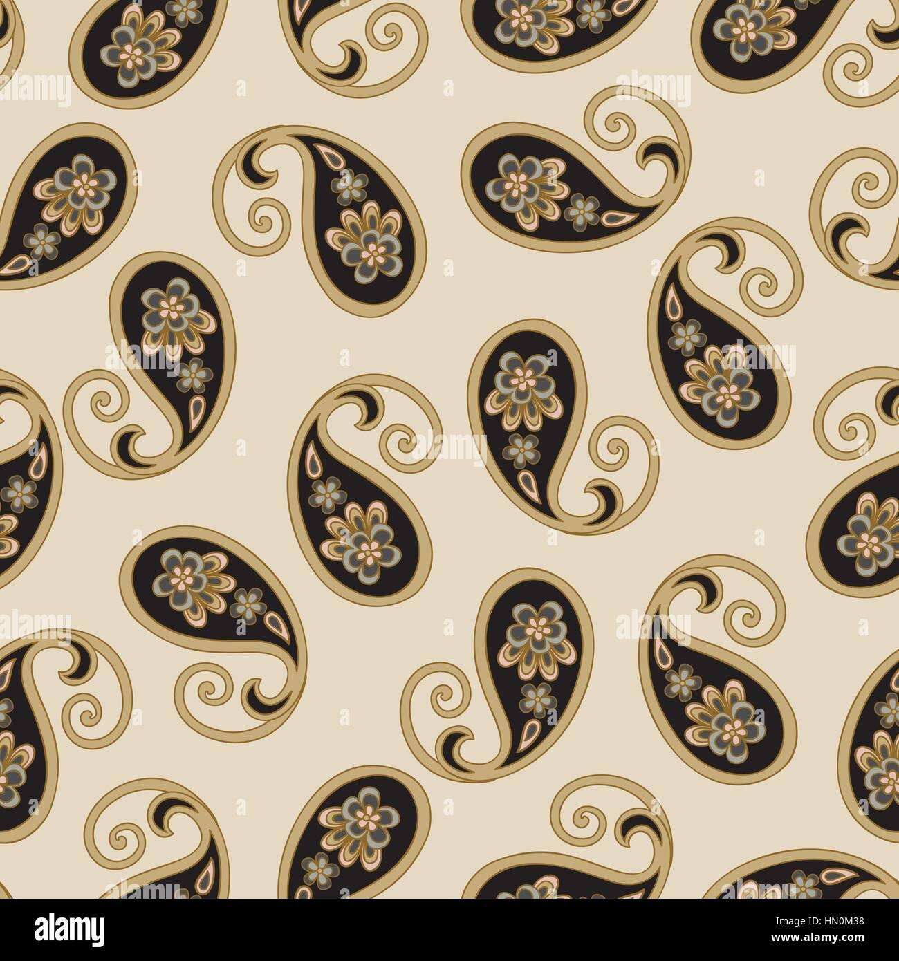 Trama perfecta floral. árabe ornamento de flores ornamentales florecen la textura de fondo. Imagen De Stock