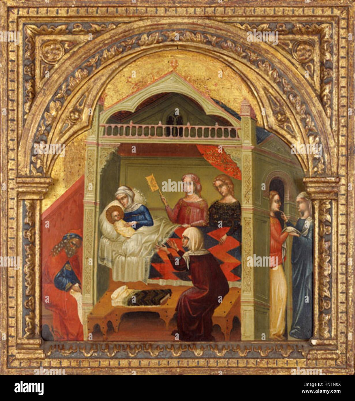 Lorenzo Veneziano el nacimiento de san Juan Bautista. 1350-56 ...