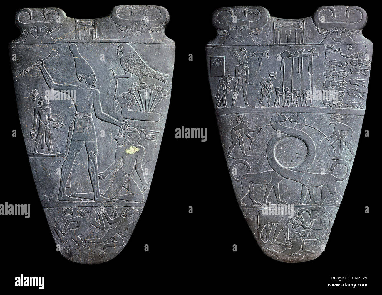 Paleta de Narmer Foto de stock