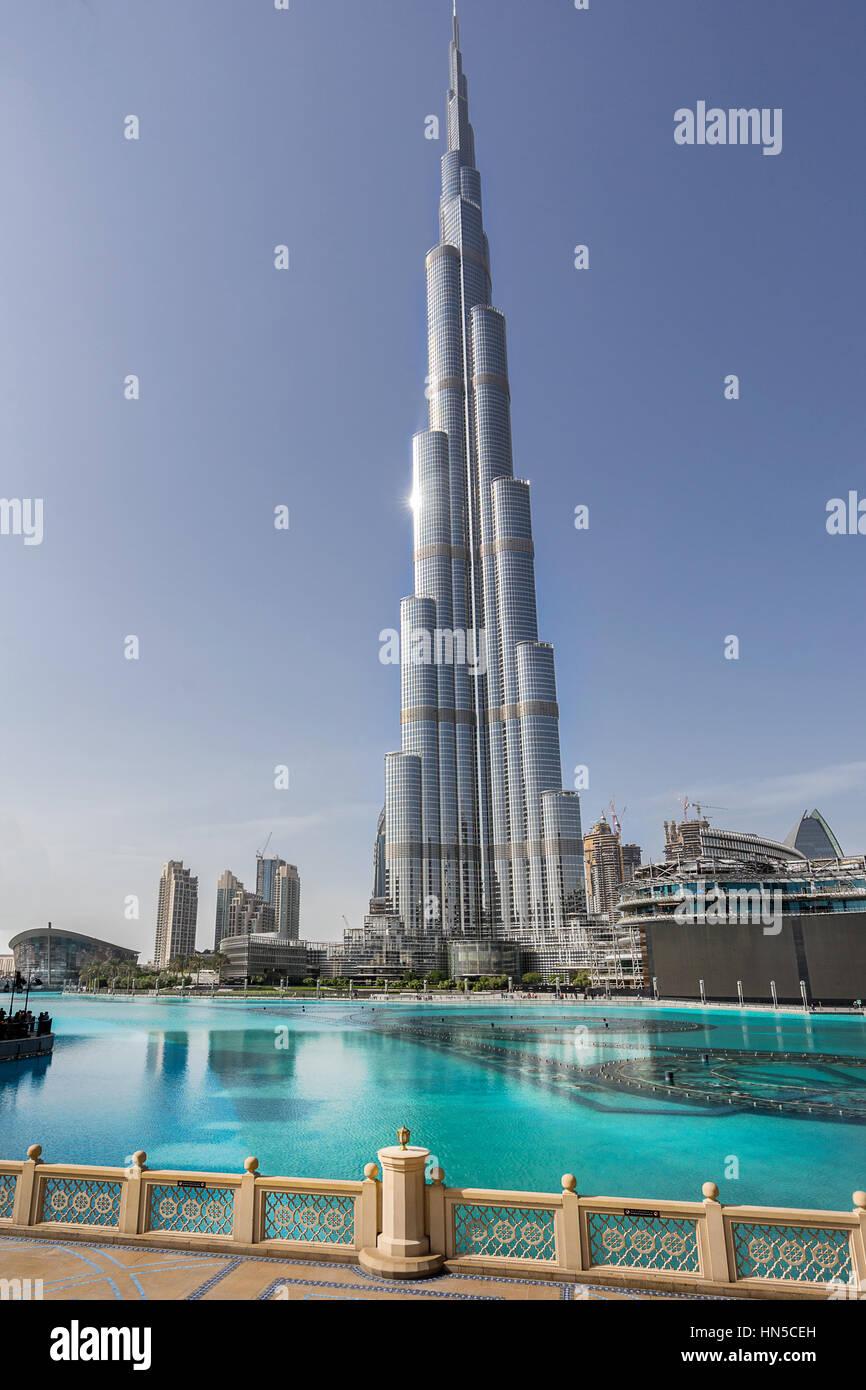 El Burj Khalifa en Dubai Foto de stock