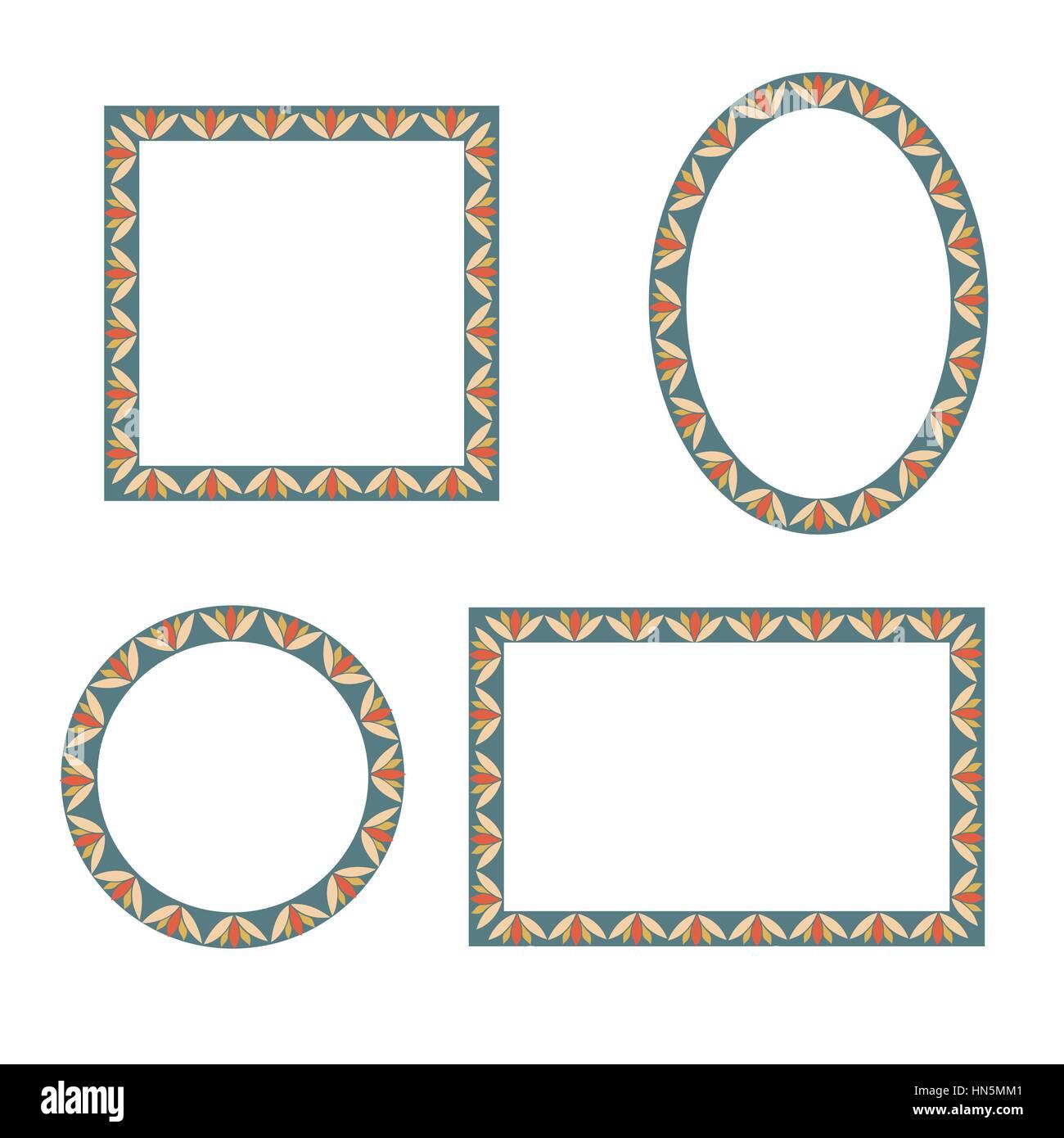 Conjunto de marcos. forma diferente colección Frames. vector ...