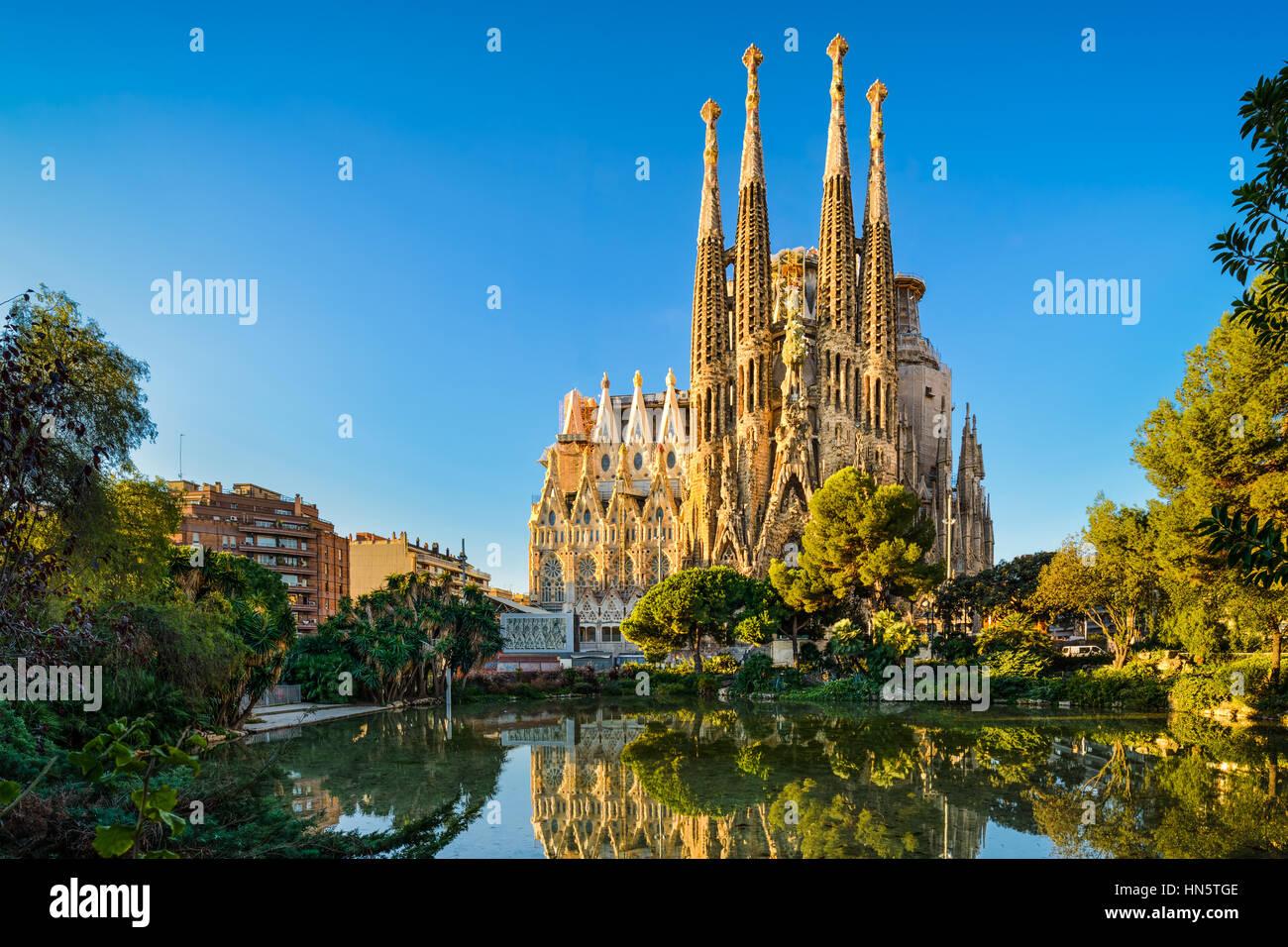 Catedral de la Sagrada Familia en Barcelona, España Imagen De Stock