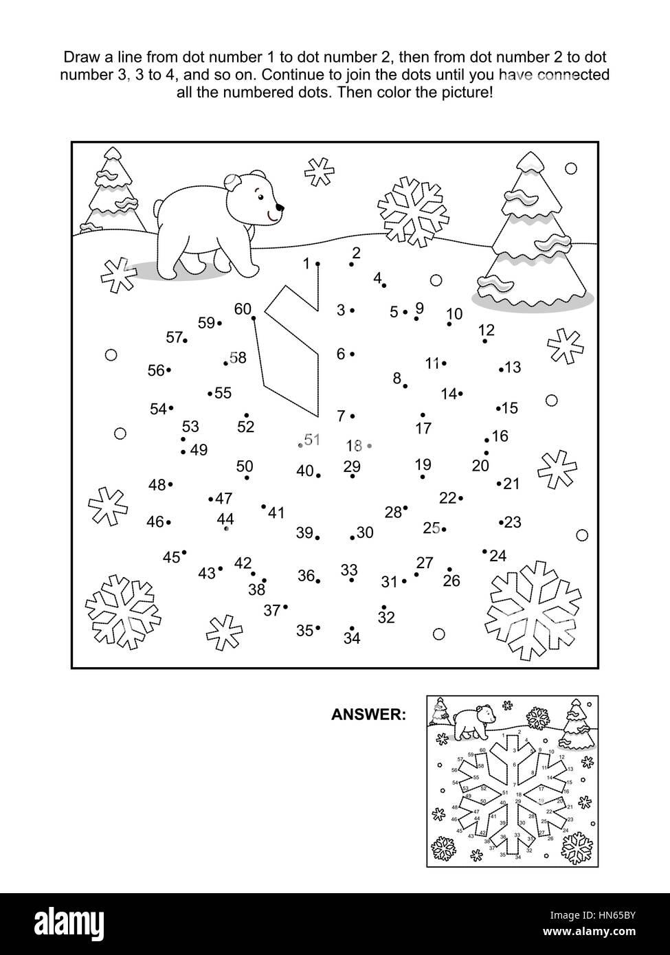 Invierno, Año Nuevo o conectar los puntos con temática de Navidad ...