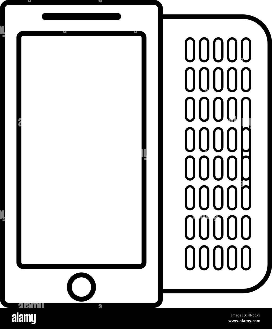 Figura teléfono móvil icono relacionado Ilustración del Vector