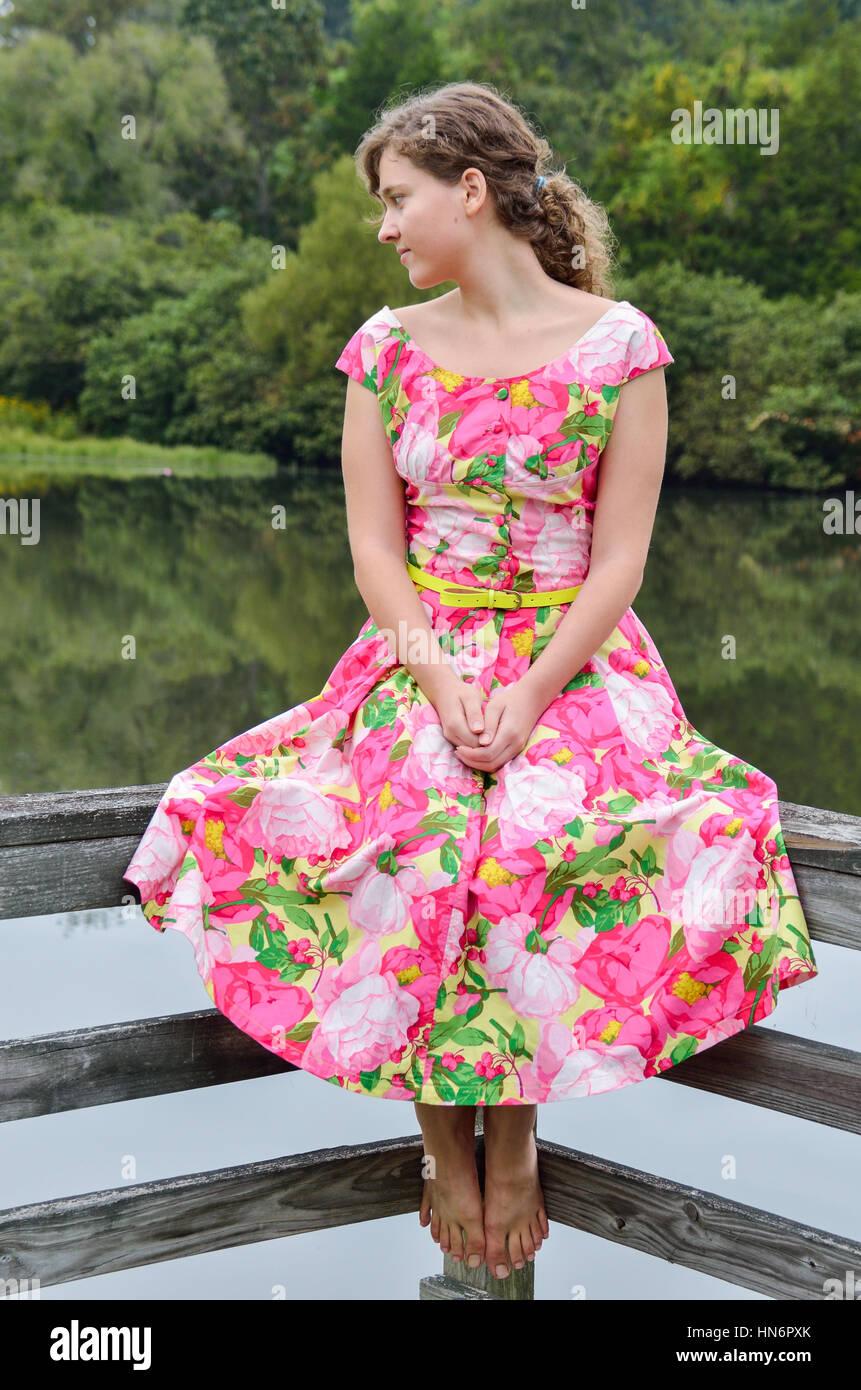 Woman Summer Dress 60s Imágenes De Stock & Woman Summer Dress 60s ...