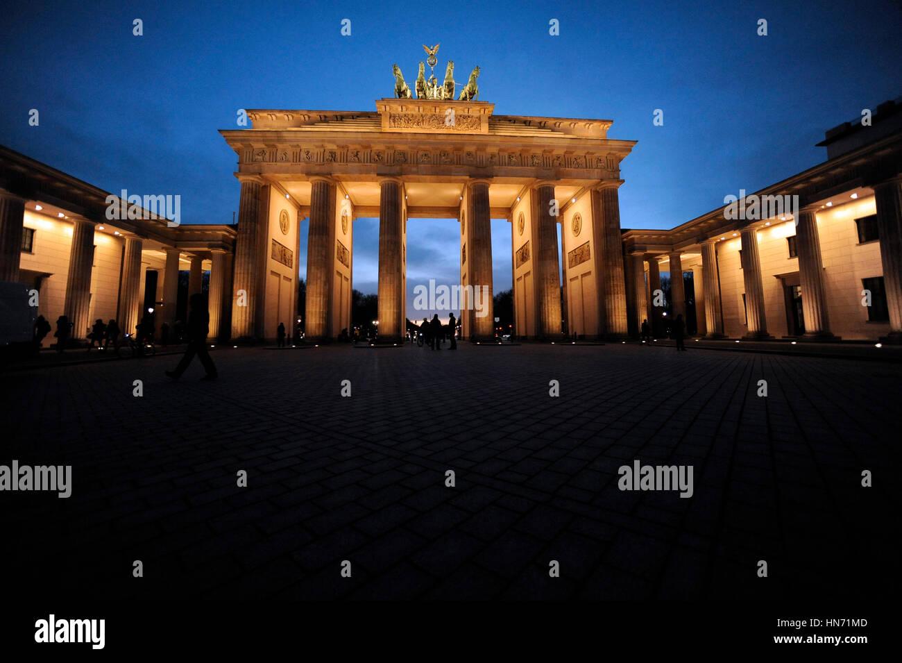 Puerta de Brandeburgo, Berlín Imagen De Stock