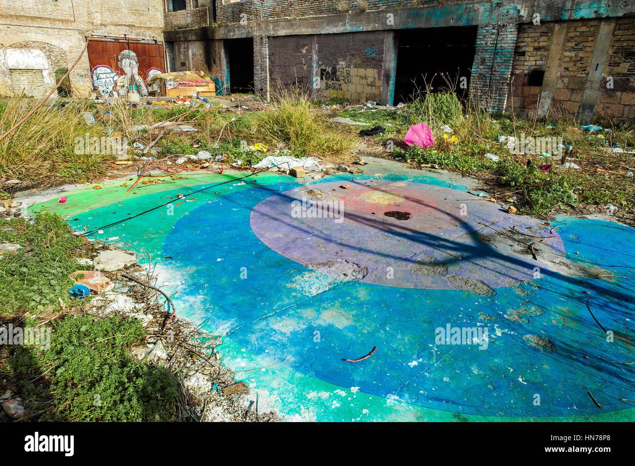 En el centro de la zona este de la MAGR, la ex fábrica de jabón Mira Lanza, soportes, desapareció Imagen De Stock