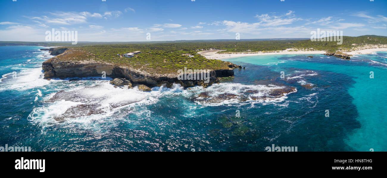 Hanson Bay costa panorámica aérea. Kangaroo Island, South Australia Imagen De Stock