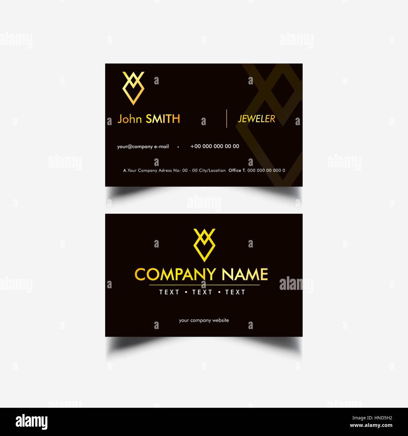 Tarjeta de negocios de lujo dorado Imagen De Stock