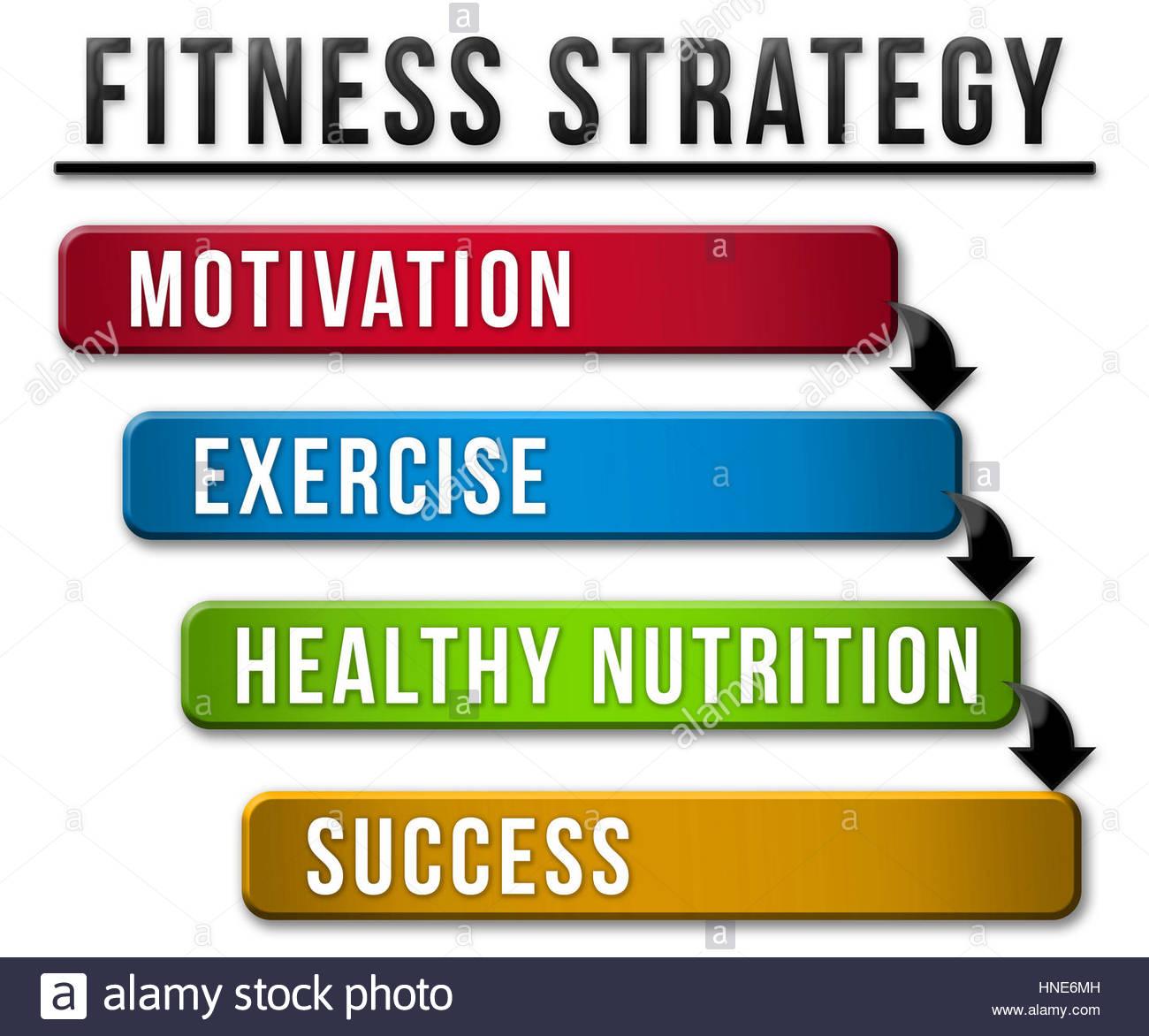 Estrategia de Fitness Imagen De Stock