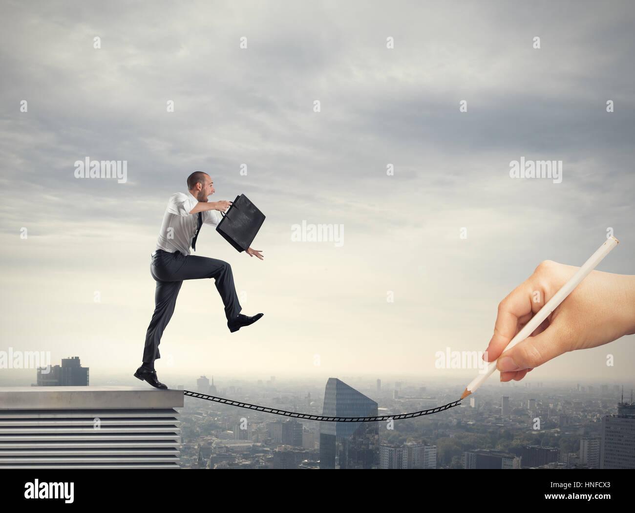 Ayuda en su trayectoria empresarial Foto de stock