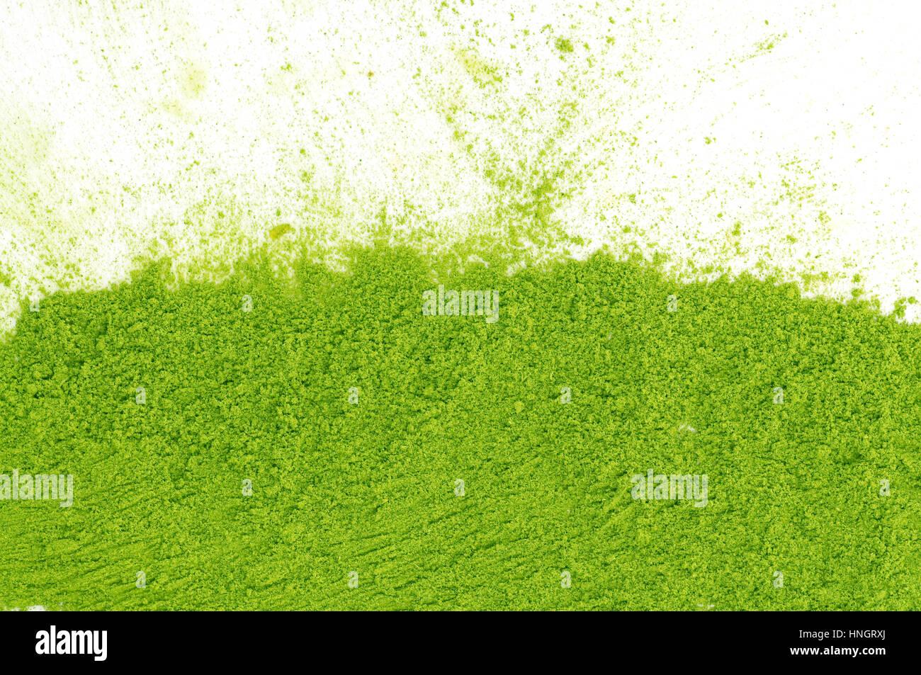 El té verde en polvo matcha Imagen De Stock