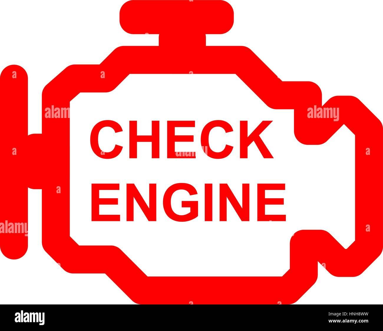 Sr20det Check Engine Light: Símbolo De Coche Check Engine Ilustración Del Vector