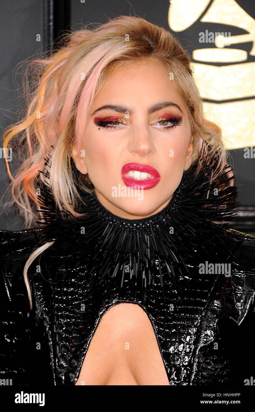 Los Angeles, Estados Unidos. 12 de febrero de 2017. Lady Gaga en la 59ª Premios Grammy celebrada en el Staples Imagen De Stock