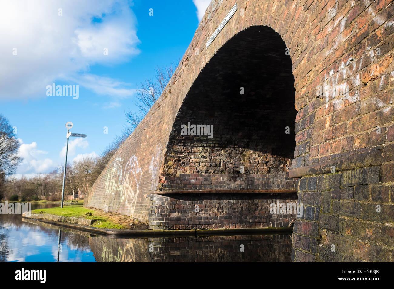 Hermosas vistas al Canal de Birmingham Foto de stock