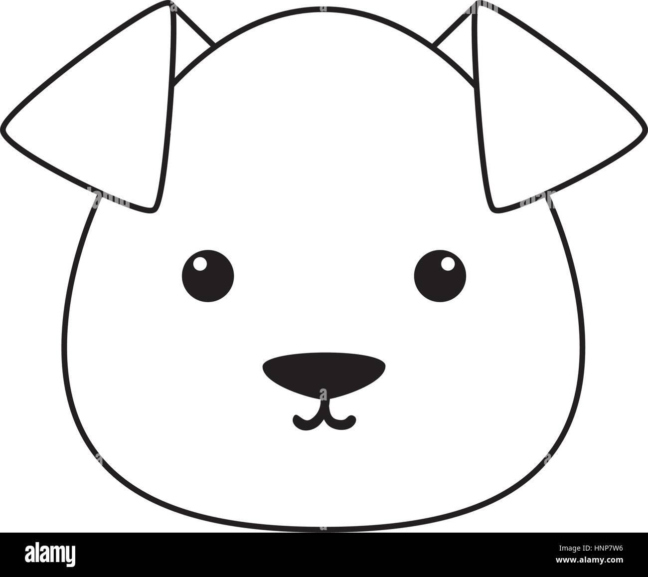 Dibujo Cara De Perro Ilustracion Del Vector Imagen 133869490 Alamy