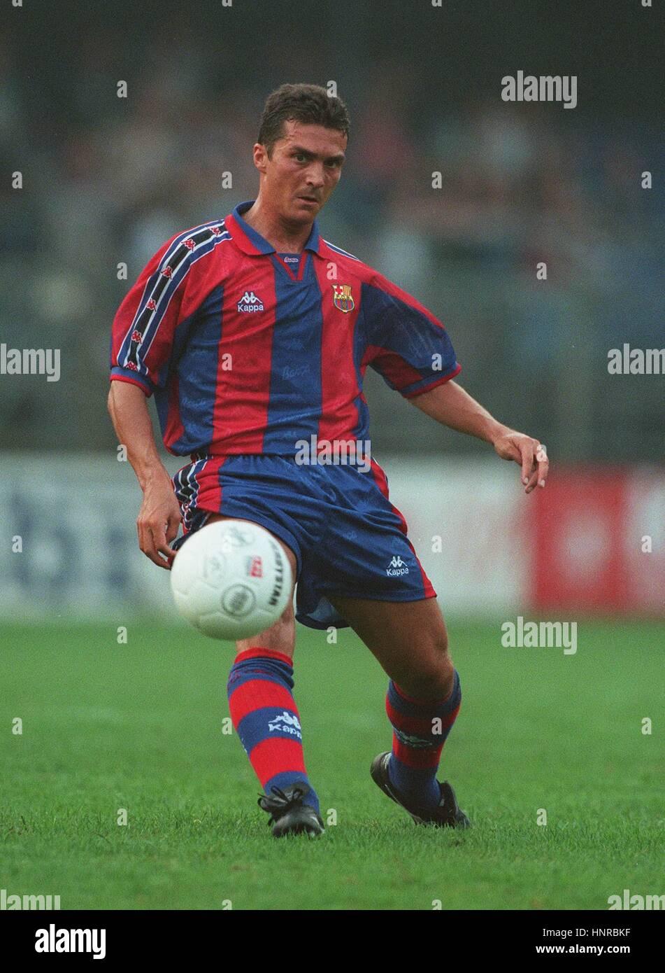 FC BARCELONA GUILLERMO AMOR 06 de agosto de 1996 Imagen De Stock