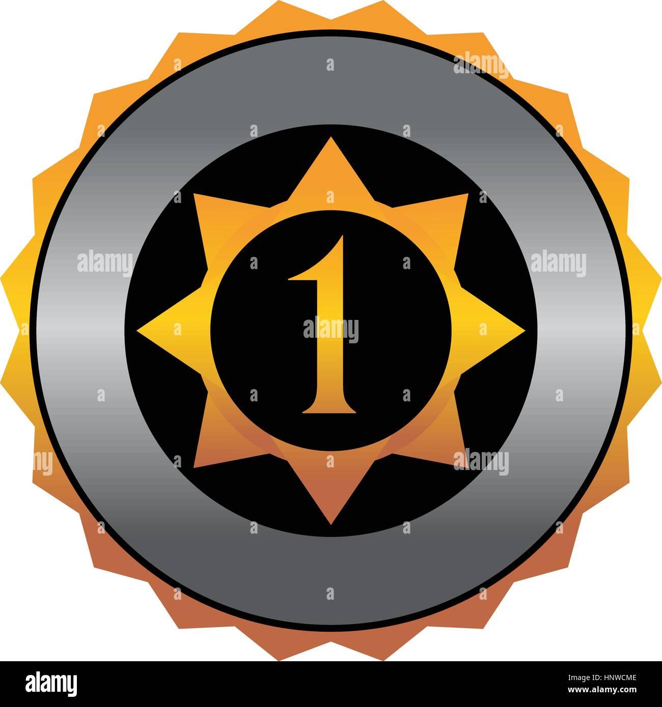 Militar medalla número 1 Imagen De Stock