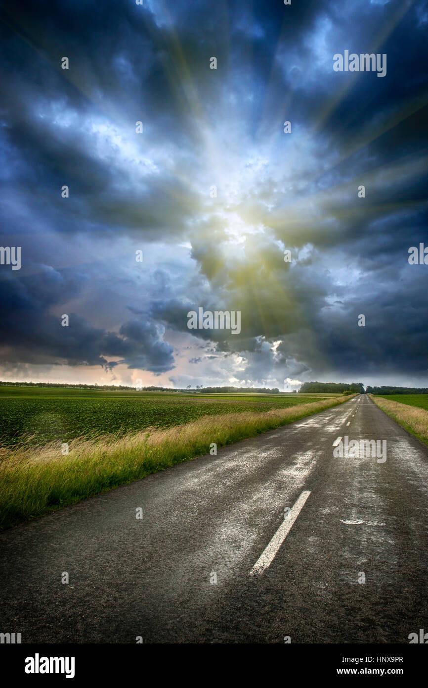 Cielo tormentoso Imagen De Stock