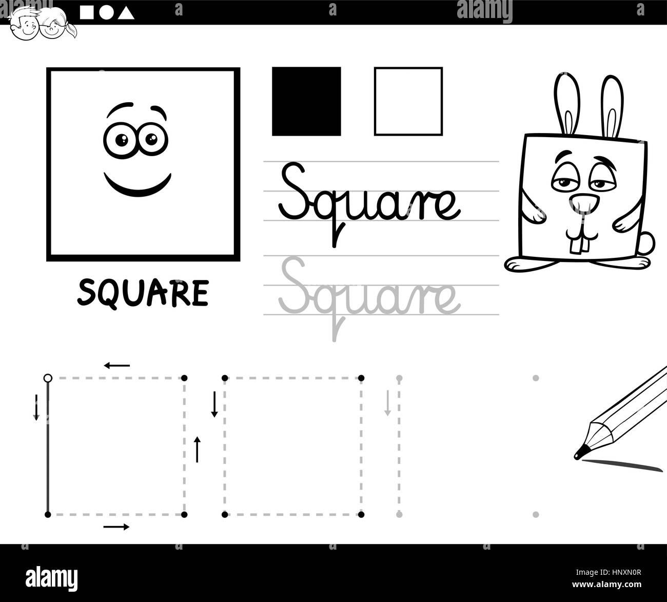 En Blanco Y Negro De Dibujos Animados Educativos Ilustración Del