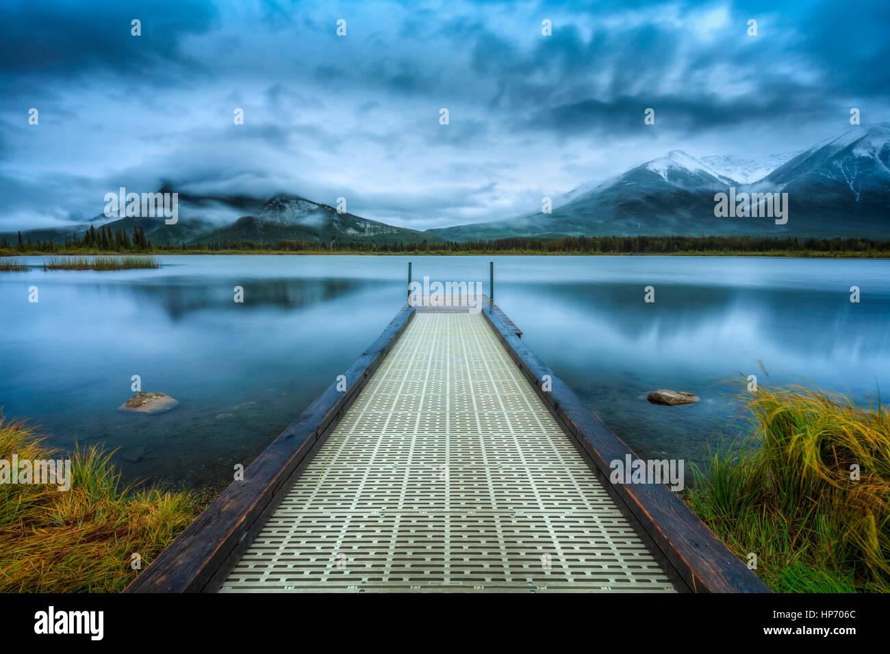 Los lagos Vermillion, Banff, Alberta, Canadá Imagen De Stock