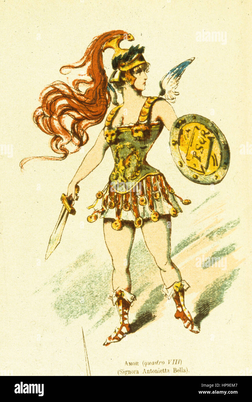 Signora antonietta bella,amor,Luigi manzotti,Museo Teatrale alla Scala Imagen De Stock
