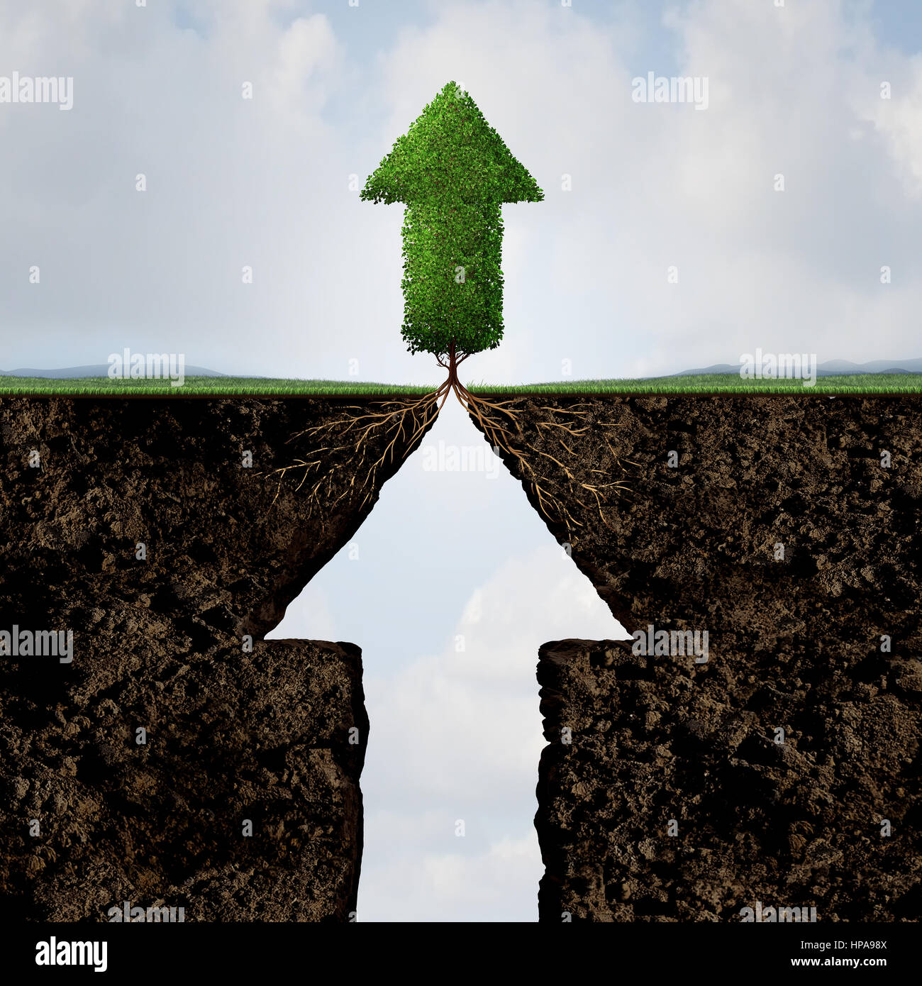 Subir de nivel concepto como un símbolo de progreso para el éxito del negocio o aspiración de crecimiento Imagen De Stock