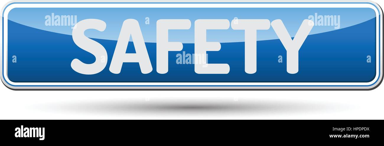 Seguridad - Resumen hermoso botón con texto. Imagen De Stock