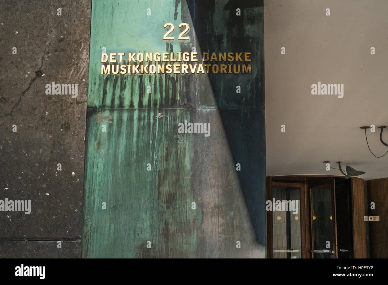 Radiohuset, el Museo de la música danesa y la Real Academia Danesa de música, Copenhague Foto de stock