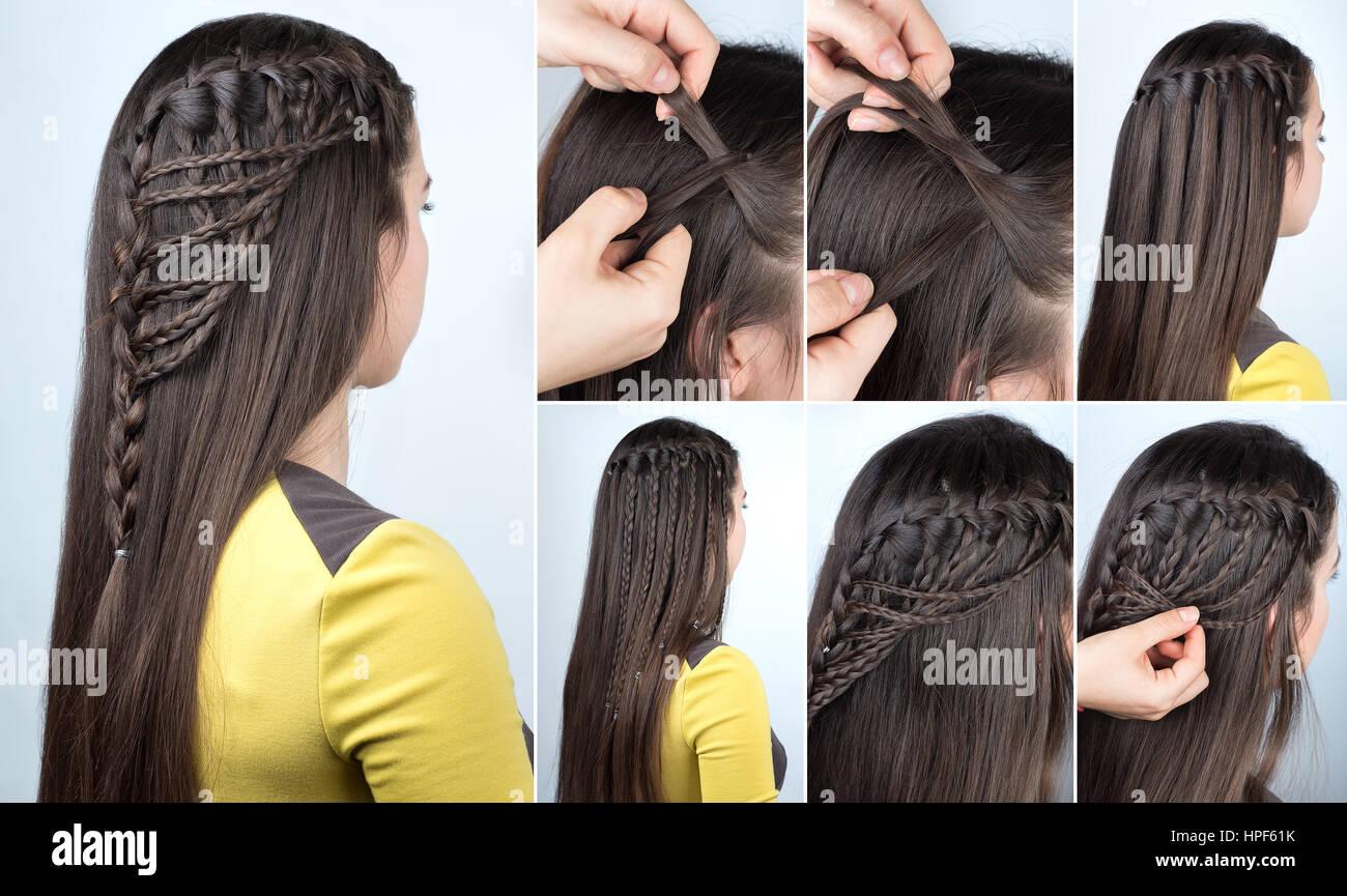 Peinado Trenzado Cascada Con El Pelo Suelto Tutorial De Peinados