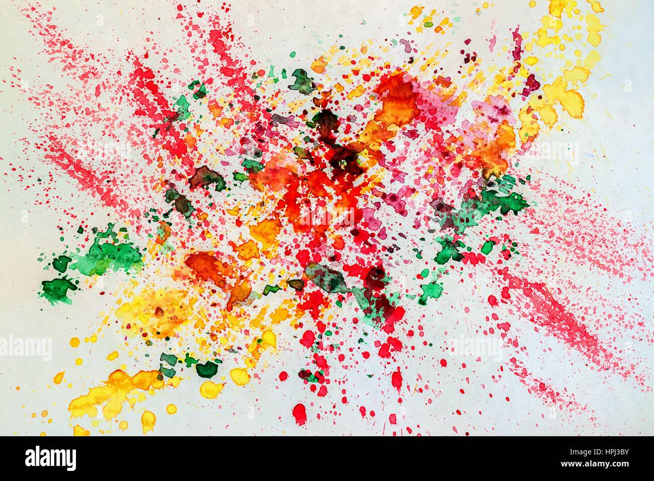 Acuarela abstracto fondo de colores vivos con spray de for Papel tapiz de patron para el pasillo