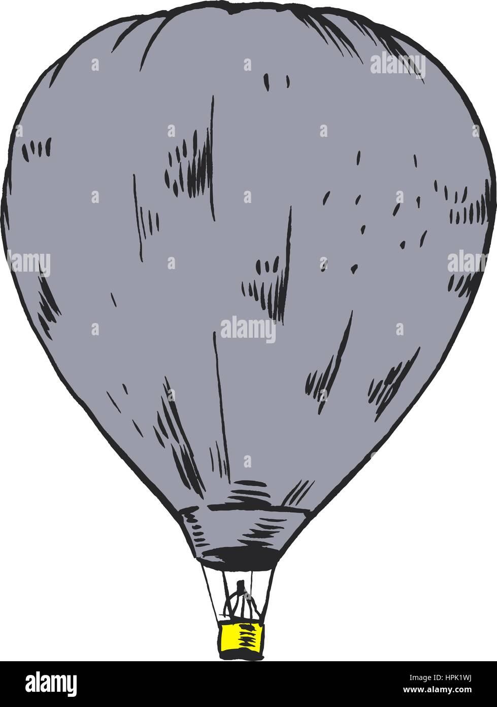 Hot Air Balloon Cartoon Design Imágenes De Stock & Hot Air Balloon ...