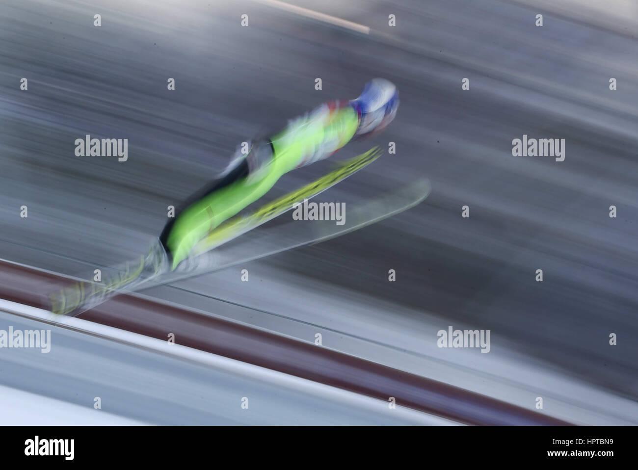 Lahti, Finlandia. 24 Feb, 2017. 24.02.2017 Lahti Gregor Schlierenzauer (AUT), campeonatos de Esquí Nórdico FIS, Foto de stock
