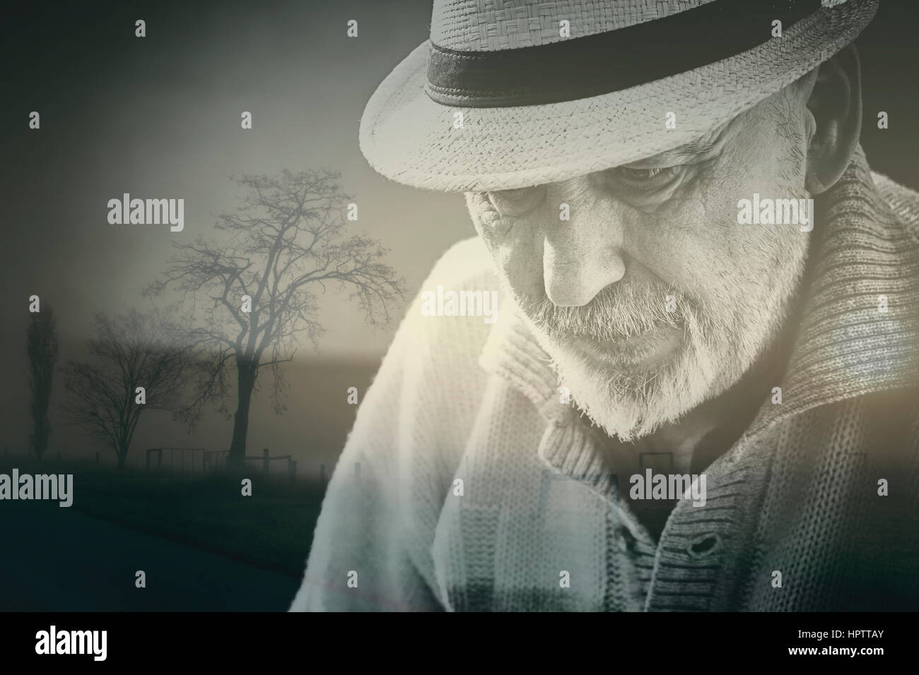 Hombre mayor de edad Imagen De Stock