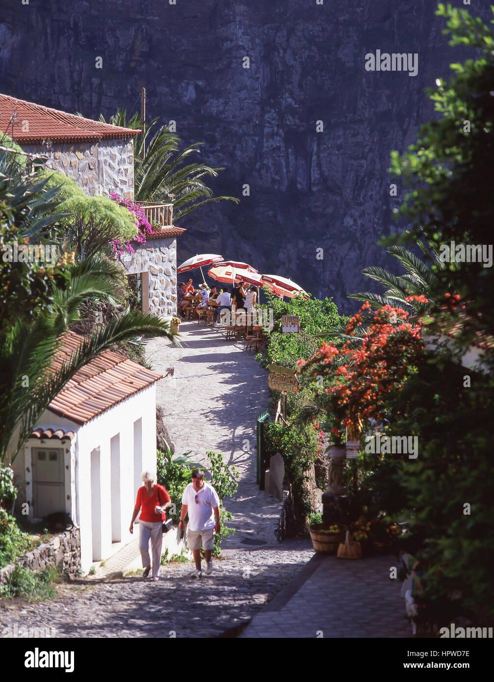 Restaurante Mirador, la aldea de Masca, Teno, Tenerife, Islas Canarias, España Imagen De Stock