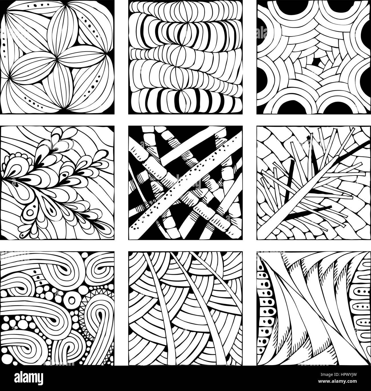 Libro para colorear de adultos vectores distintos patrones de ...