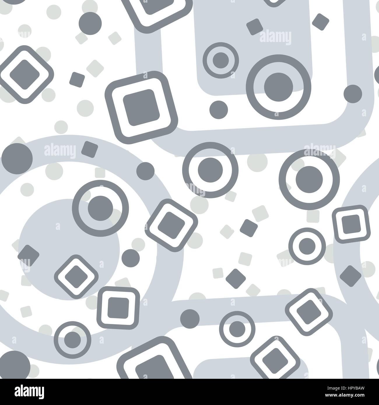 Círculos cuadrados patrón sin fisuras. Resumen fondo liso ...