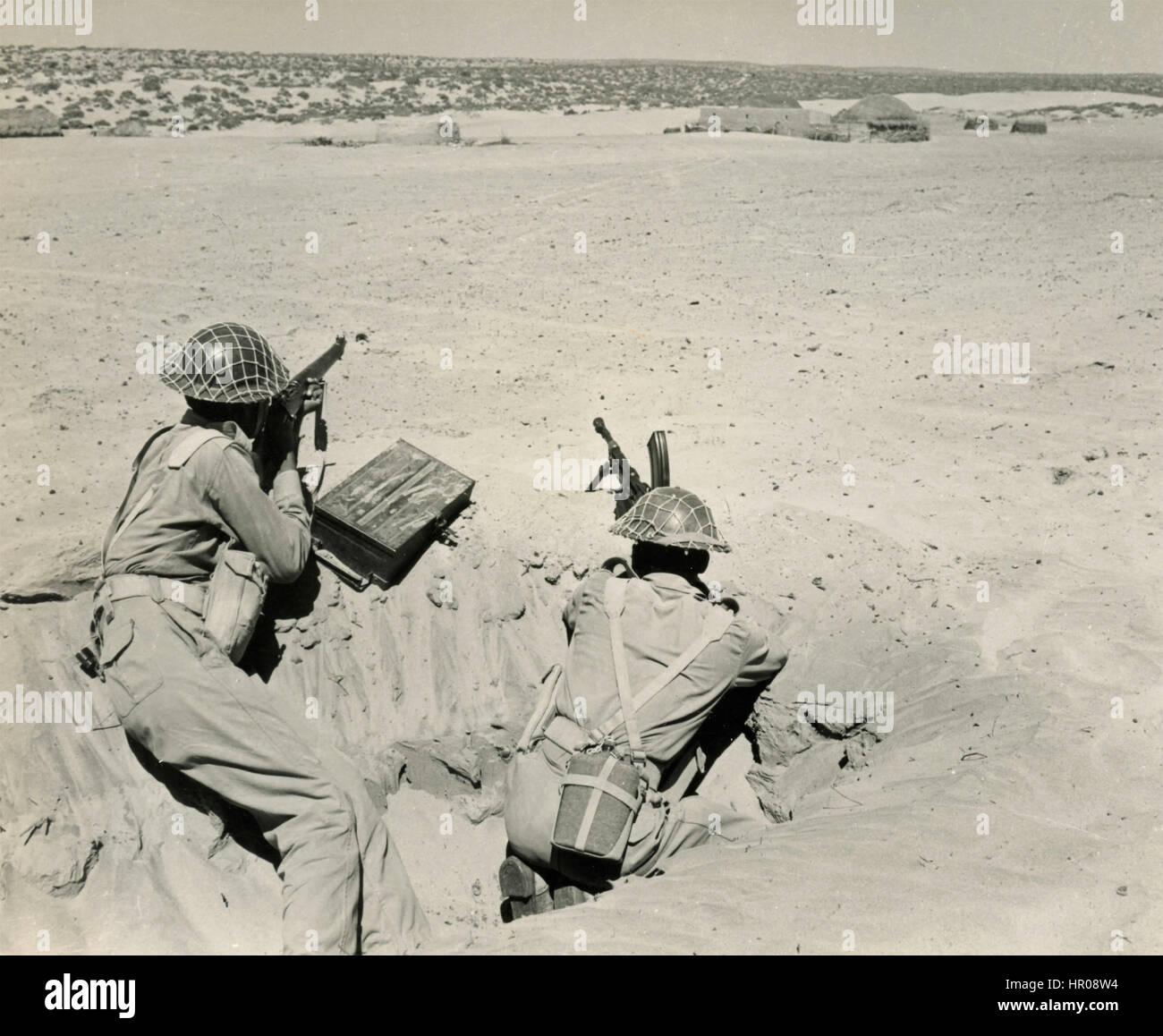 Los militares pakistaníes en Rajasthan, India 1965 Imagen De Stock